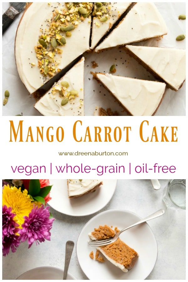 HEALTHY VEGAN CARROT CAKE #oilfree #vegan #carrotcake #plantbased #wfpb #wholegrain #cake #recipe #dessert #mothersday