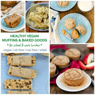 HEALTHY OIL-FREE VEGAN MUFFINS & BAKING for #backtoschool! #lunches #healthy #vegan #baking #oilfree #nutfree #muffins