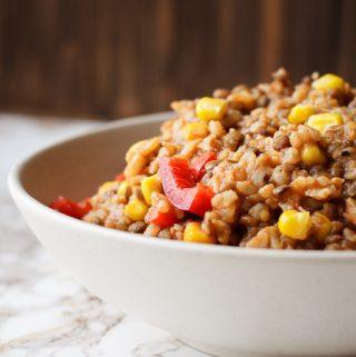 Spanish Rice (vegan, gluten-free, oil-free, nut-free)