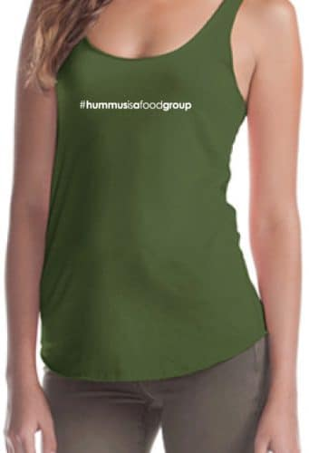 you had me at vegan and #hummusisafoodgroup tank top