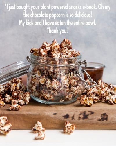 Chocolate Covered Popcorn in a Jar