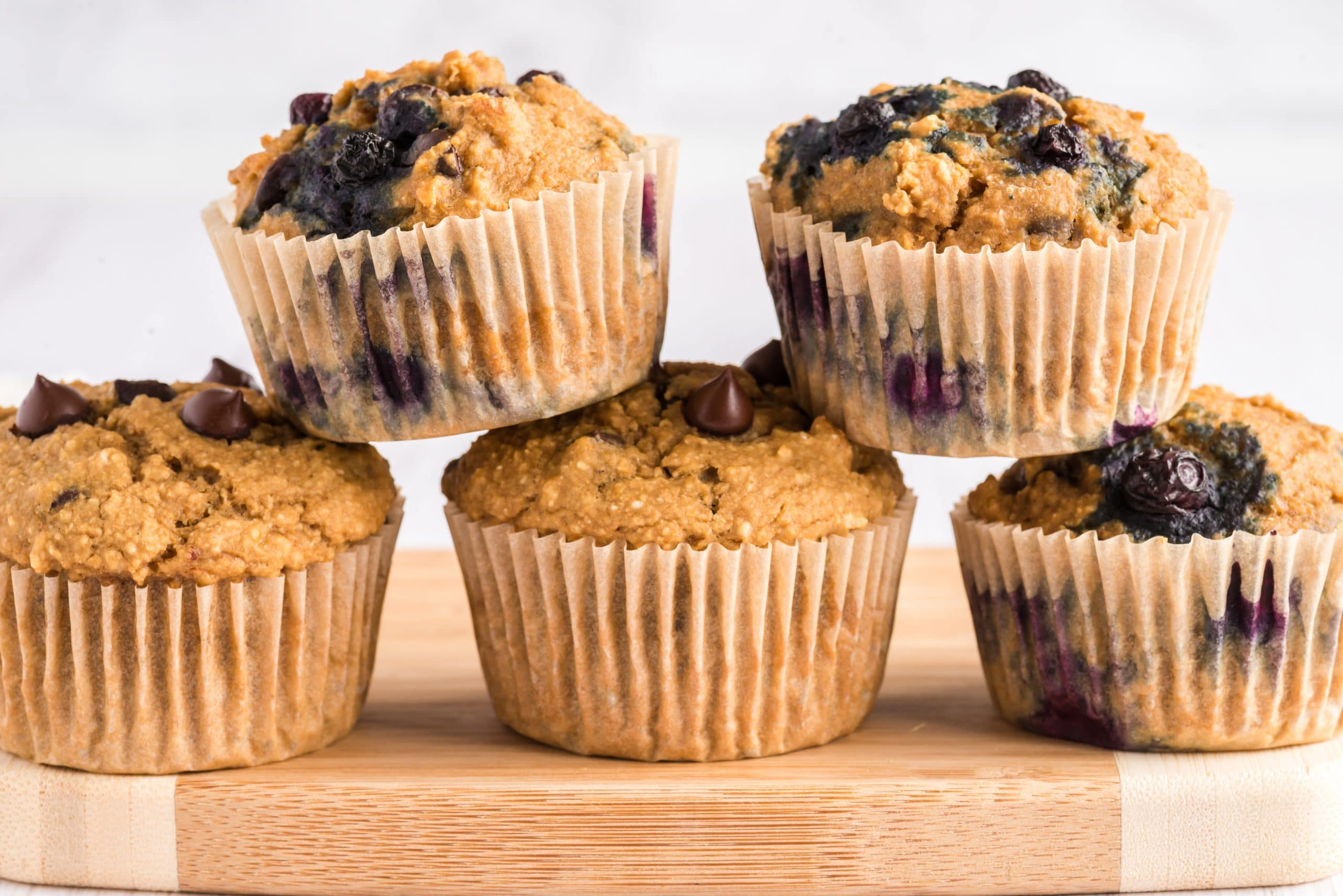 muffins stacked in two rows