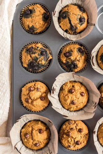 muffins in baking pan
