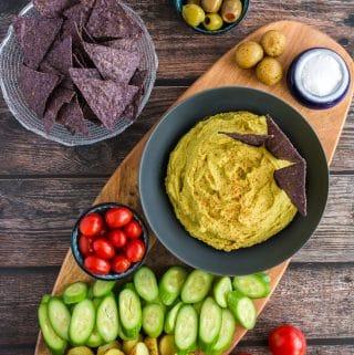 Green Pea Hummus (vegan, oil-free, nut-free, gluten-free)