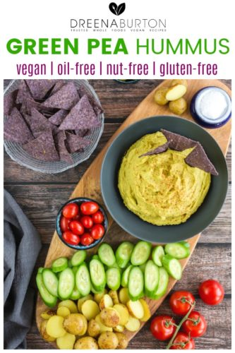 green pea hummus pin