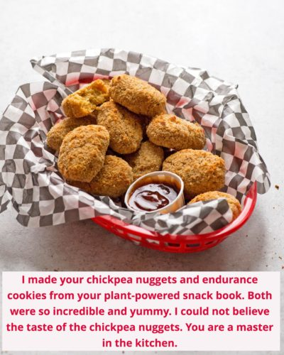 chickpea nuggets from plant-powered snacks