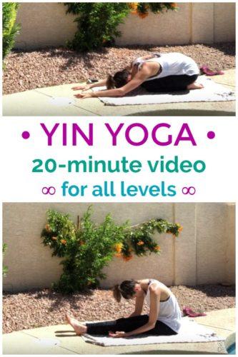 Yin Yoga: 20 minute yoga video - all levels!