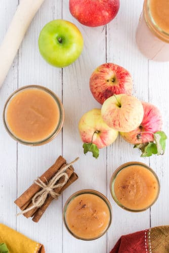 instant pot applesauce in glass jars