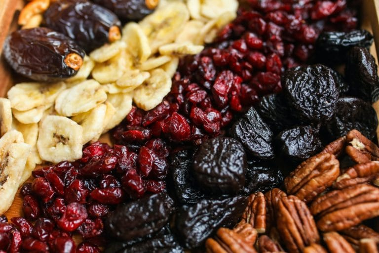 photo of dried fruits to stock in a vegan pantry