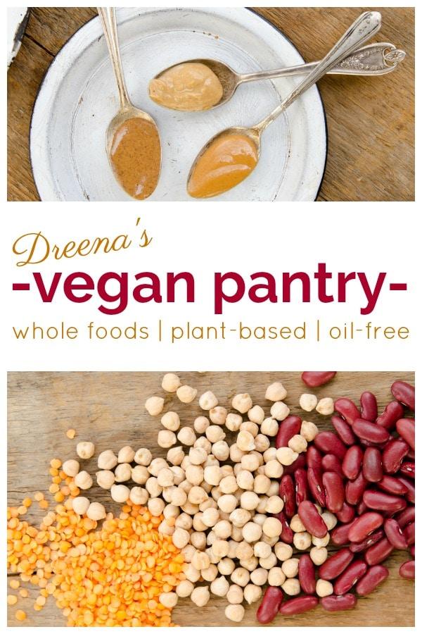 pinterest post for vegan pantry