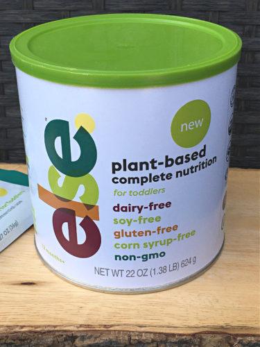 Canister of ELSE nutrition plant-based baby formula