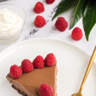 overhead photo chocolate pie