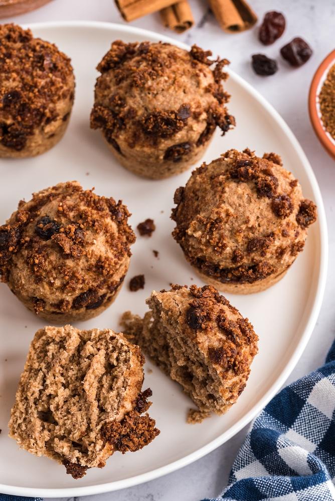 Muffin broken open