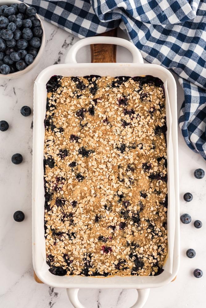 Vegan cobbler baked in pan